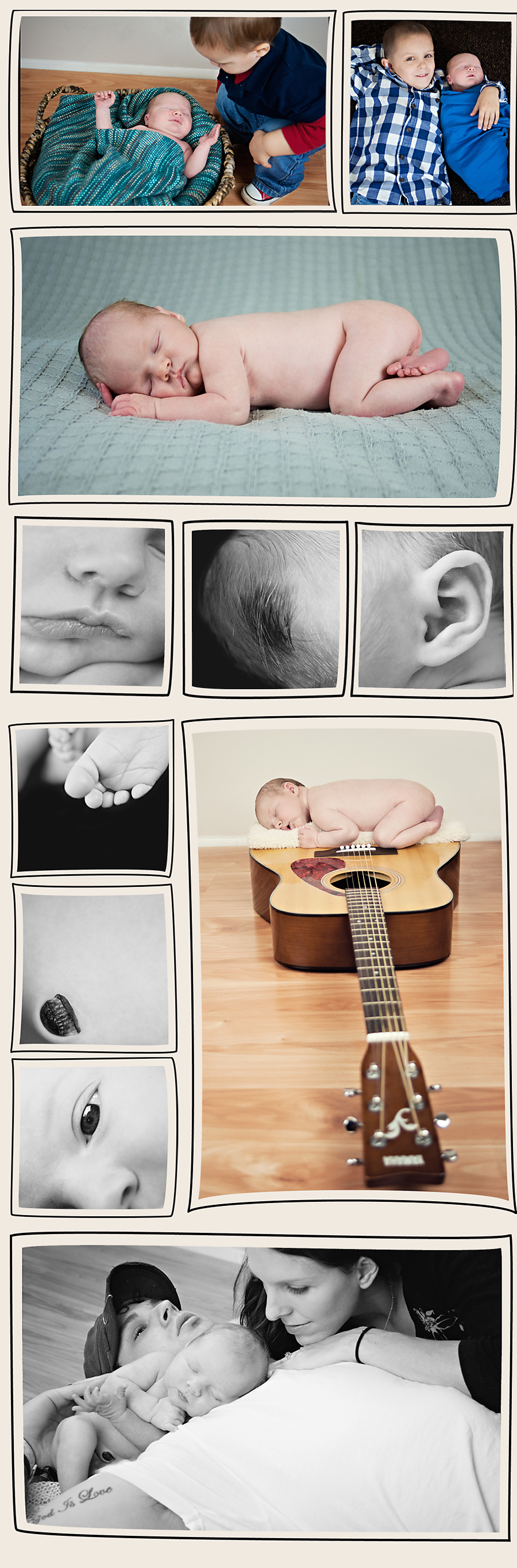 Greenville, SC Mother and Baby Newborn Photography.