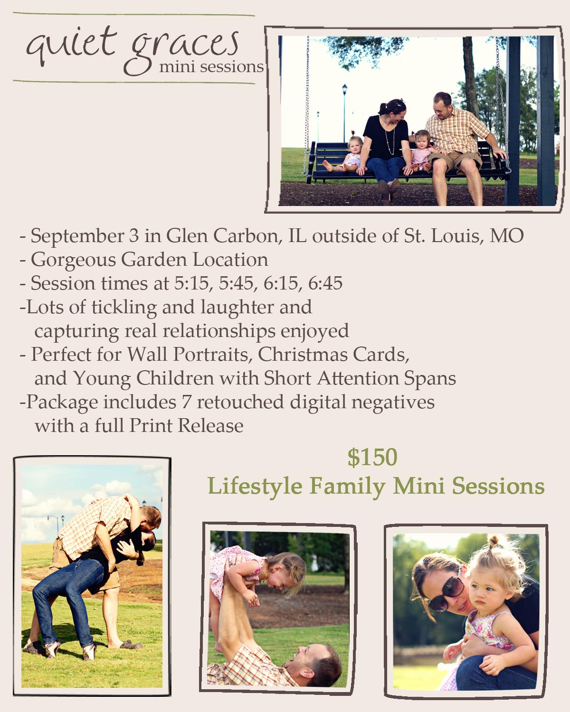 Glen Carbon, IL Family Mini-Sessions