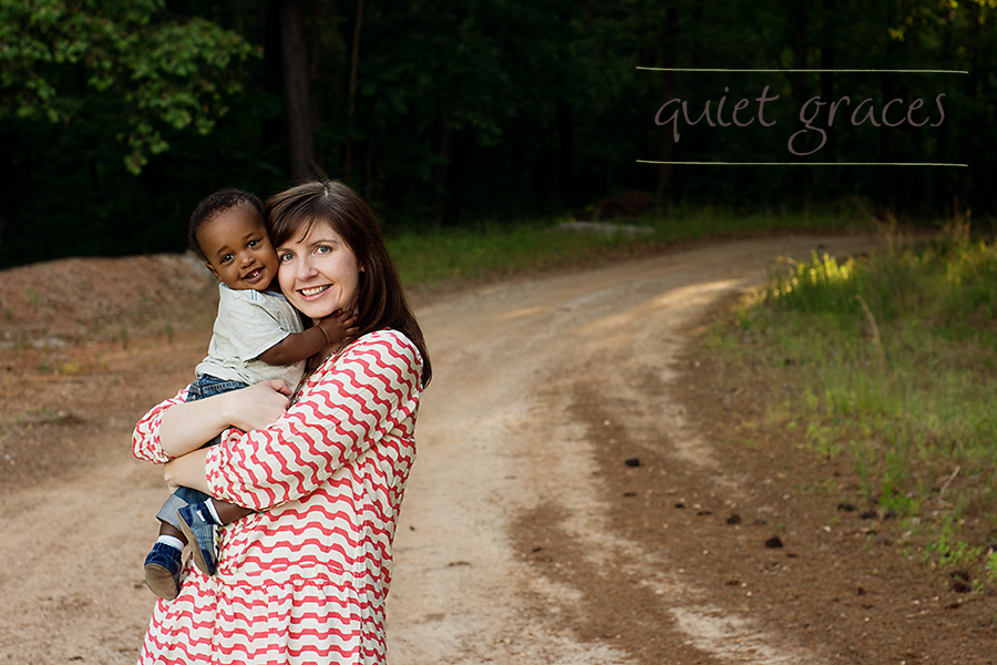 Greenville SC Baby Photography Adopted baby boy with his mommy.