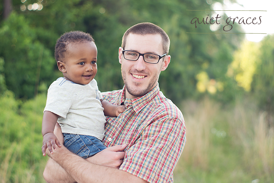 Greenville SC Baby Photography adopted baby with daddy