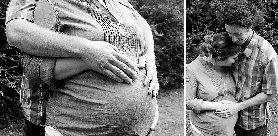 Black and White Maternity Photographer Greenville SC