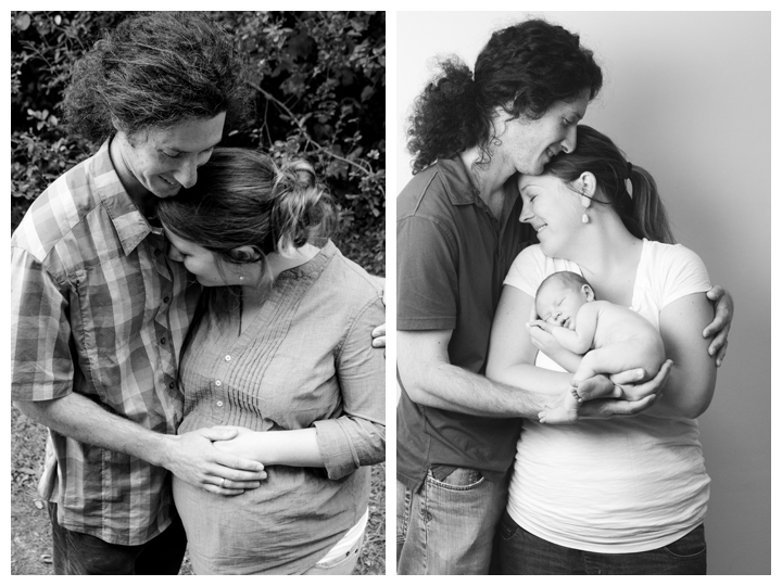 Before and After Newborn Photography Greenville SC
