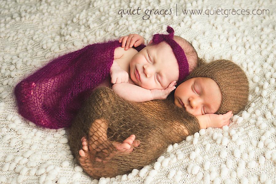 Timeless Greenville SC Newborn Twin Photographer