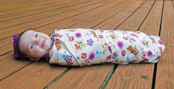 Upstate SC XL Swaddle Blanket Modern Baby Boutique