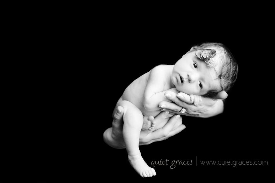 Baby Girl in Mama's hand Tiny Baby Girl Newborn Photographer Simpsonville SC