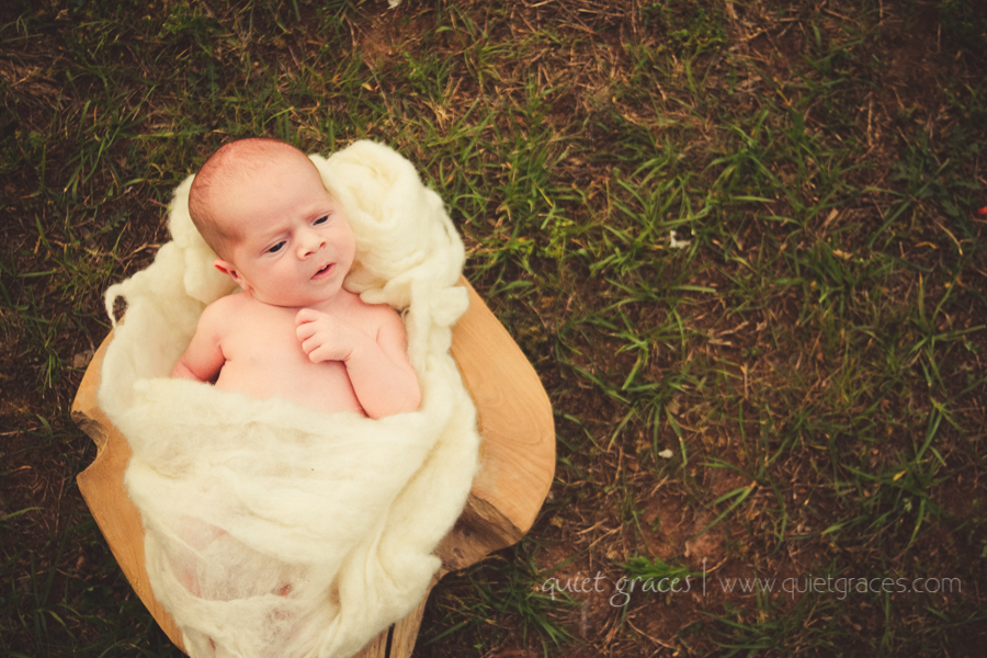 Pure Simple Outdor Infant Photographer Greenville SC