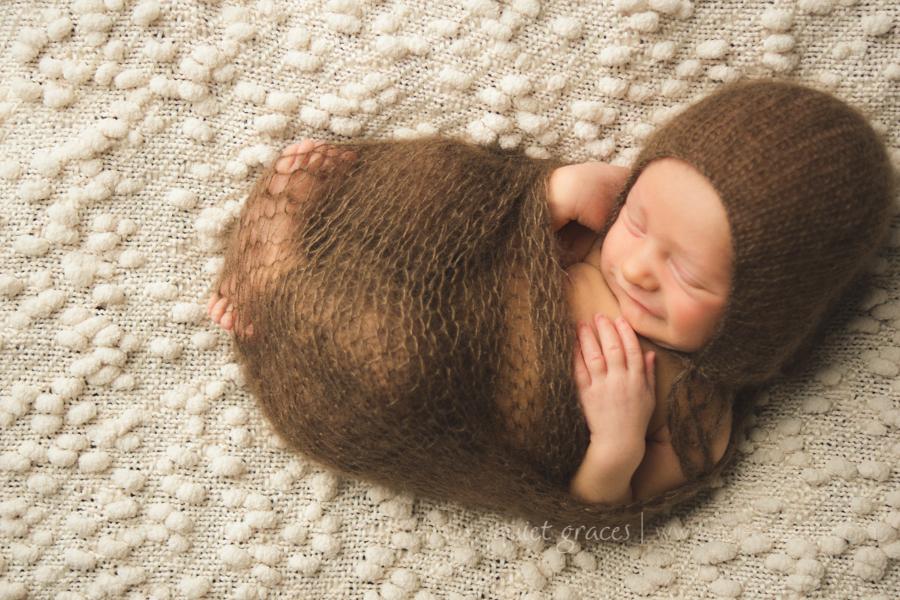Simple Organic  Newborn Photography Greenville SC