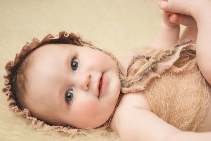 Vintage Retro Six Month Baby Photography Simpsonville SC