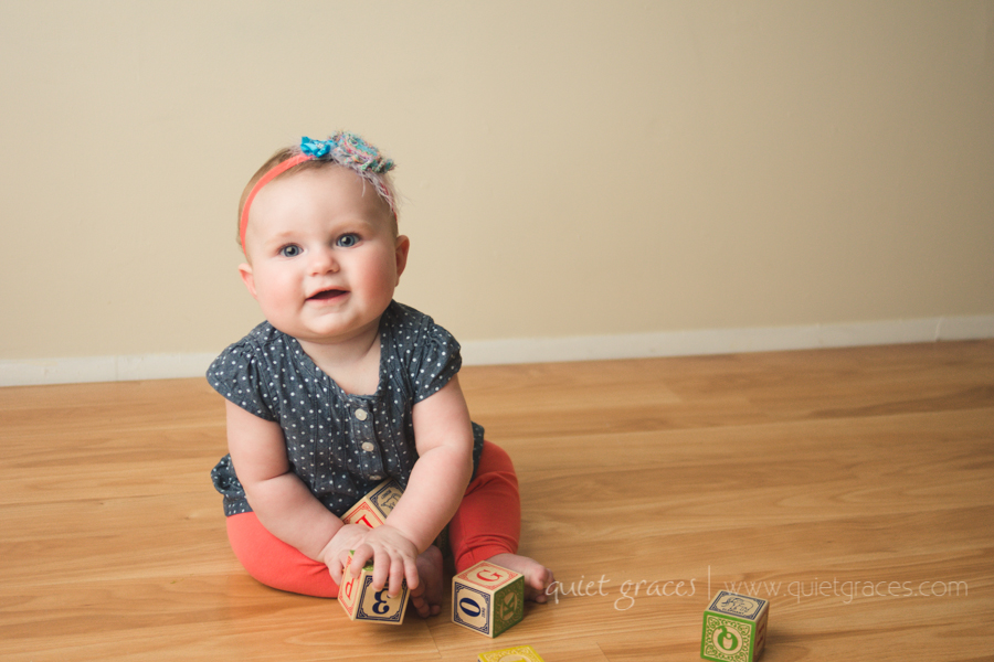 Sweet Girl Six Month Baby Plan Photography Greer SC