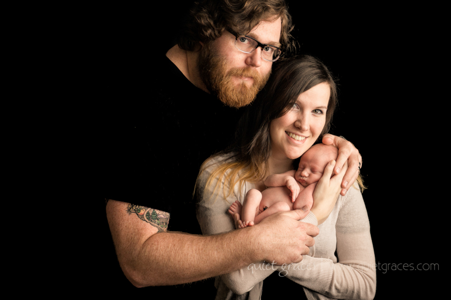 Newborn Baby boy with Family Pictures in Greer SC