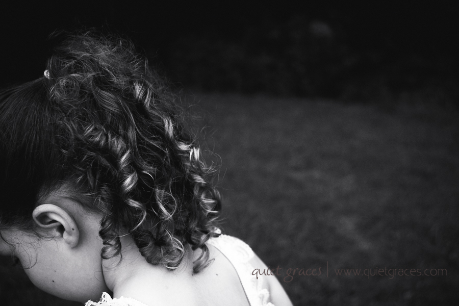 Black and white curls in a Greer SC Child Shoot
