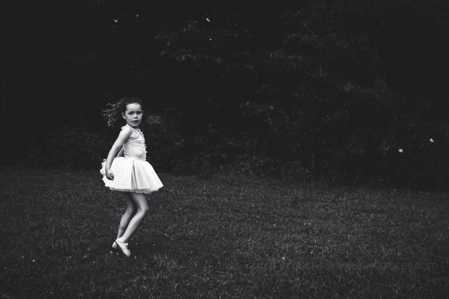 Dramatic Black and White of a Tiny Dancer Greenville SC