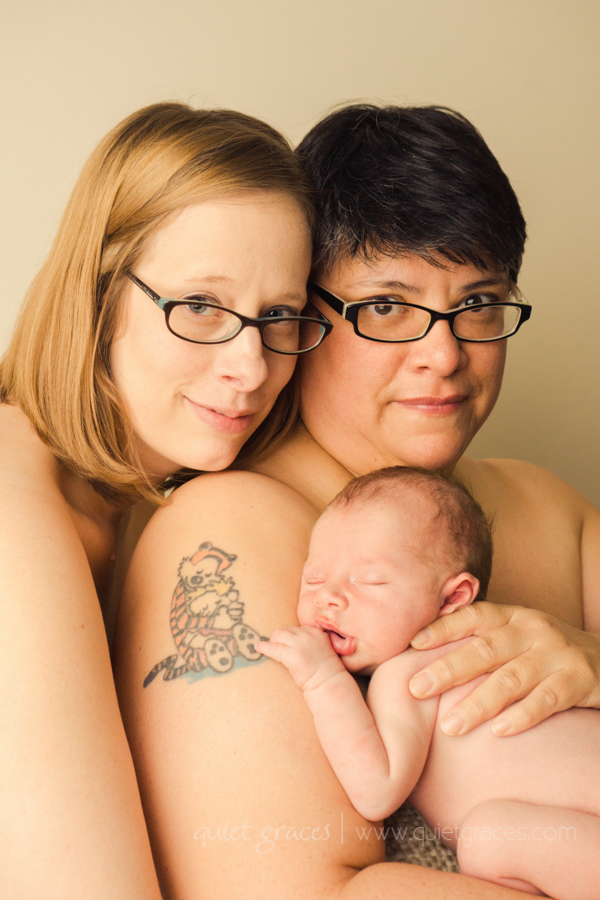Lesbian Couple with Newborn Baby Pictures Greenville SC