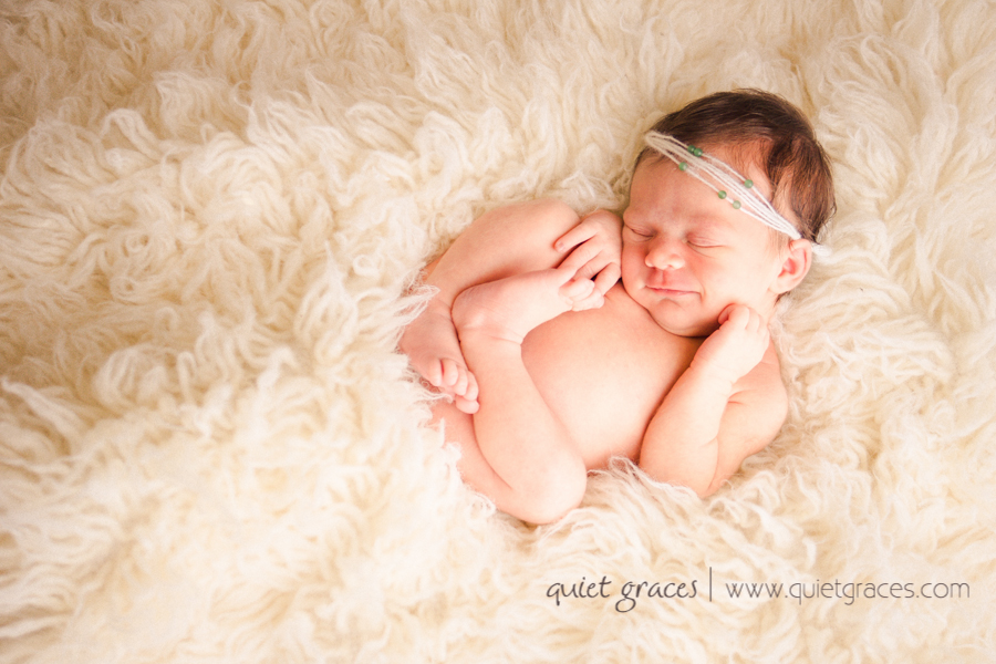 Simple Newborn Girl Photos Upstate SC by Quiet Graces photography