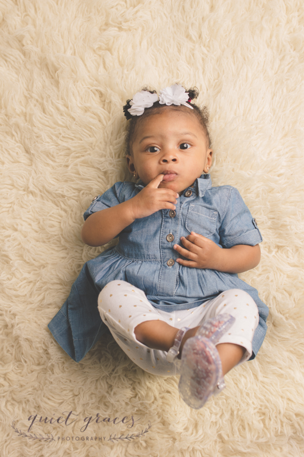 Baby Girl with Personality Greenville SC Baby Photographer