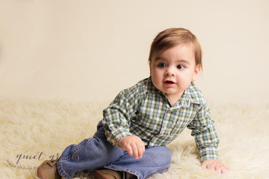 Sitting Baby Boy Photos in Greenville SC