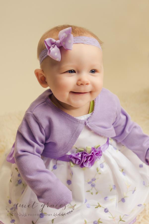 Smily baby girl studio picture Greer SC