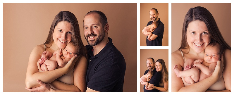 Natural Sweet Newborn Baby Girl with Family Pictures Greenville SC