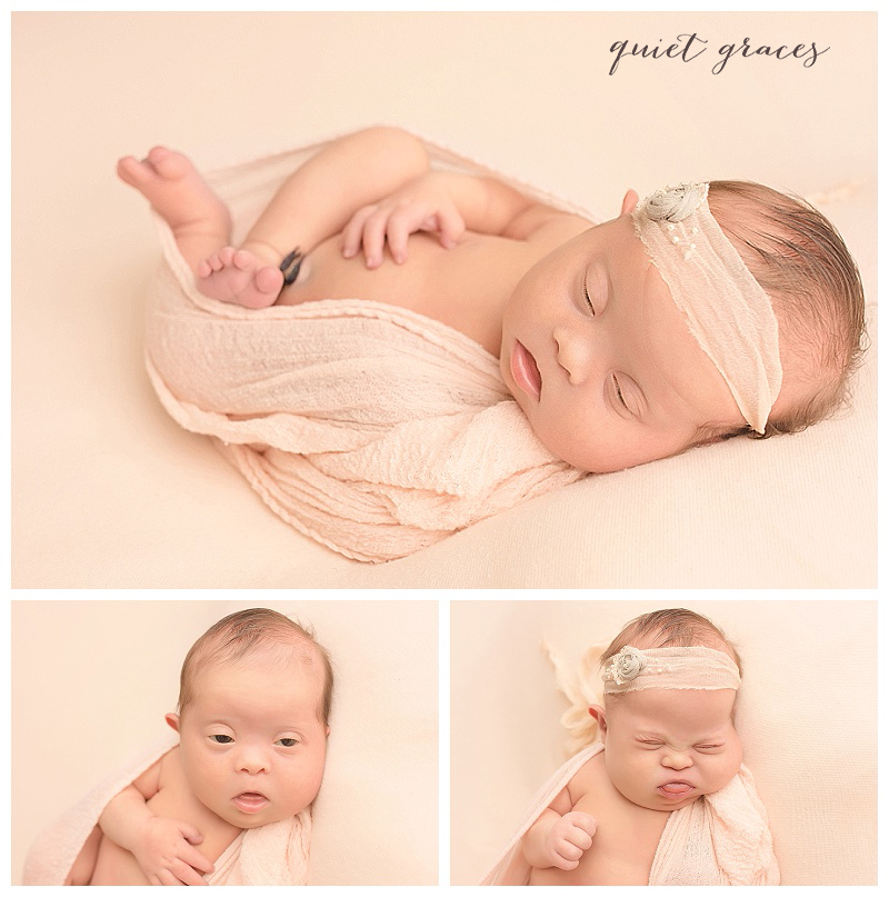 Posed Newborn Baby Photographer Greenville SC Down Syndrome