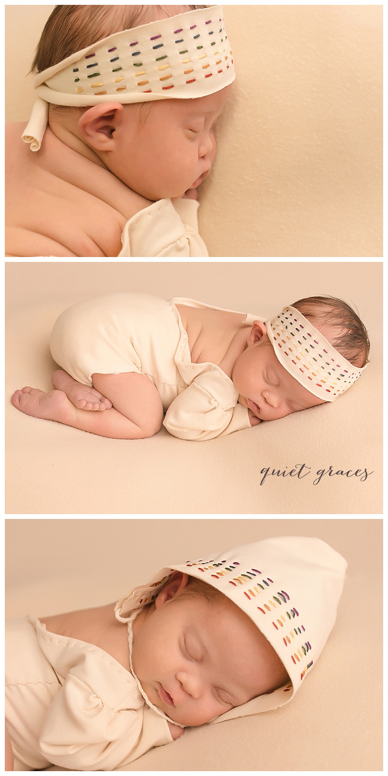 Posed Newborn Baby Photographer Greenville SC Down Syndrome Rainbow Baby Photographer