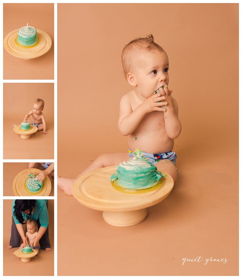 Baby Boy Cake Smash Photography Greenville SC