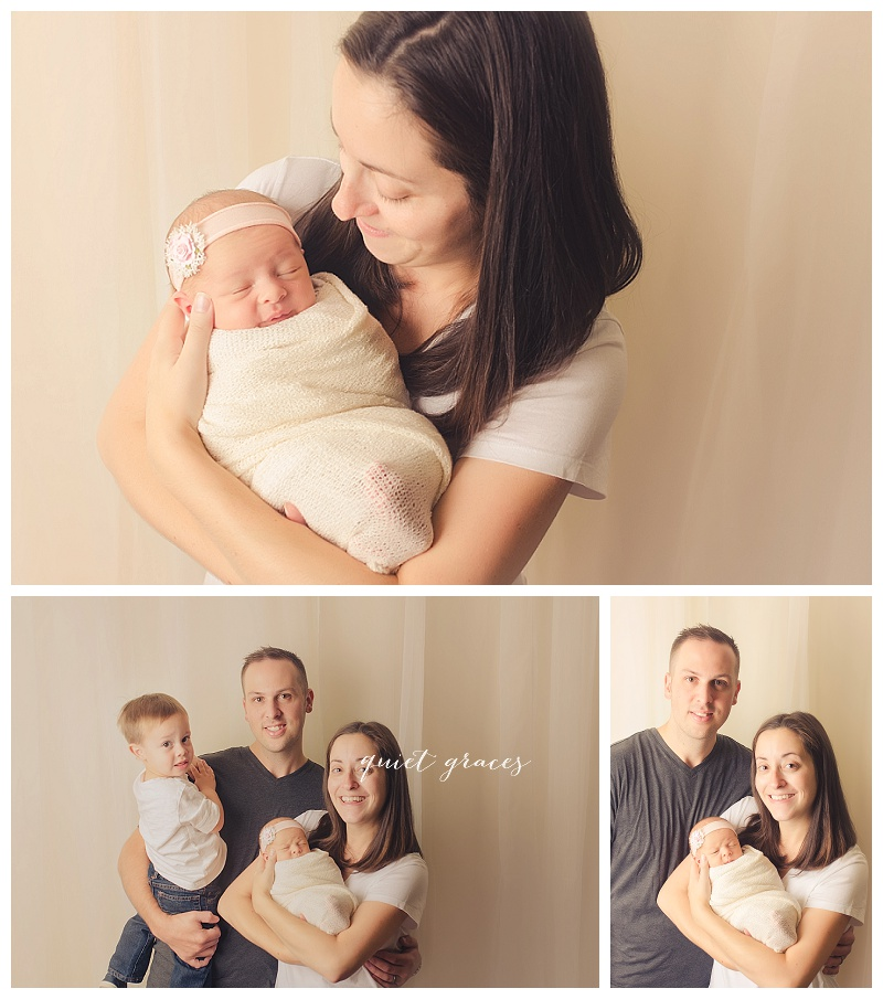 Family with newborn Pictures simpsonville sc