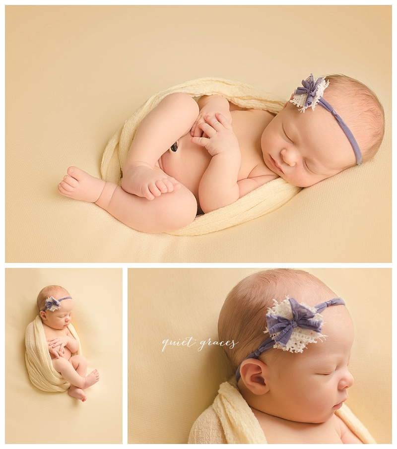 Wrapped Newborn Baby Girl Photography Greenville SC