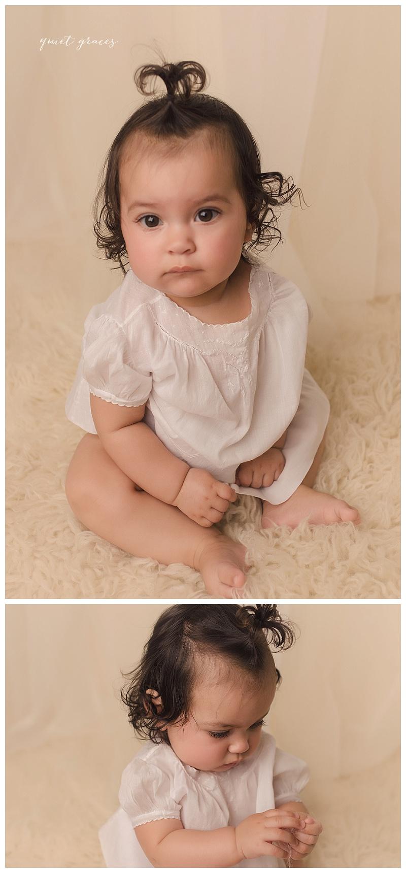 6 Month Baby Milestone Session Greer SC