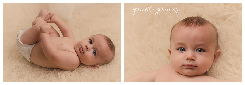 Neutral colored timeless studio baby photos Greenville sc
