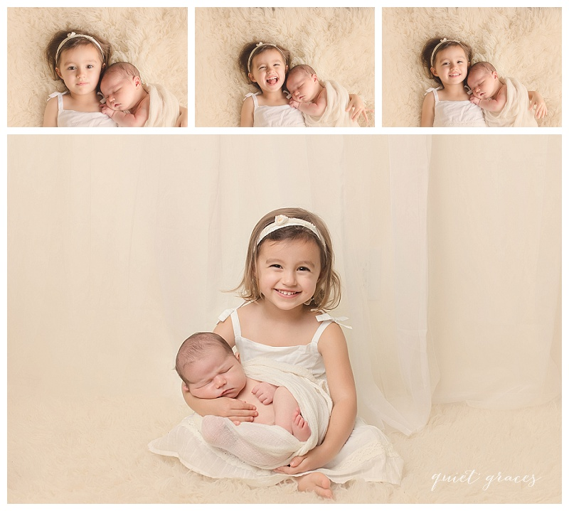 Big Sister Greenville SC Timeless Newborn Baby Pictures