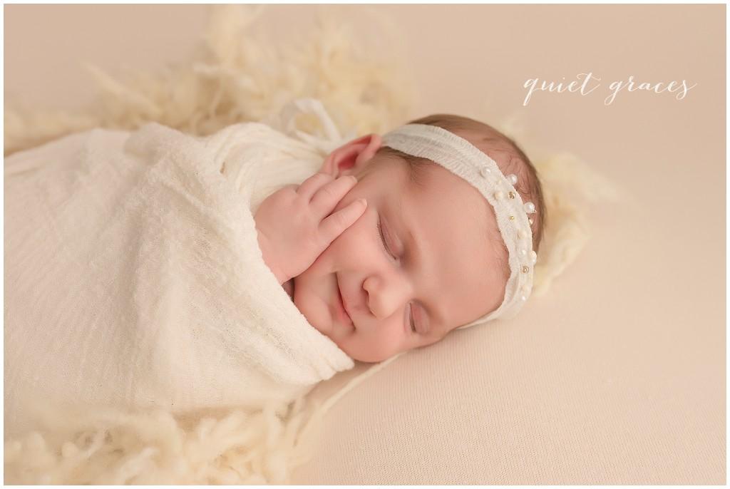 Sleeping smiling newborn baby simpsonville sc