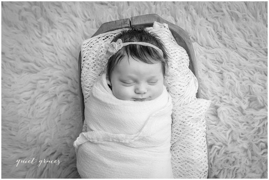 Baby Girl Newborn black and white pictures South Carolina