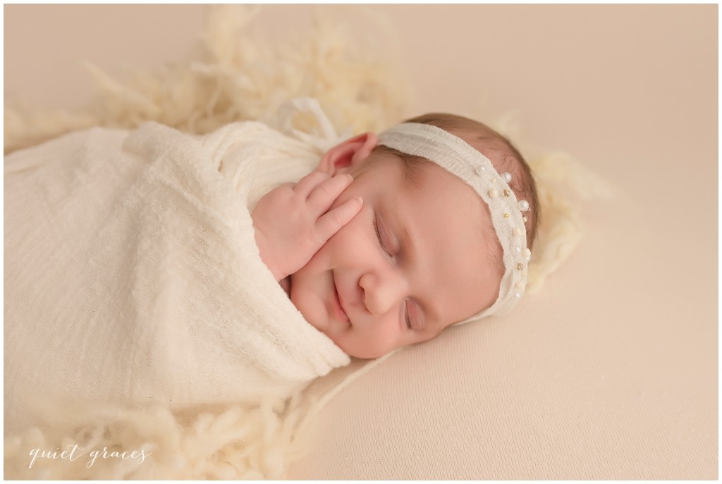 Smiling newborn baby Pictures Greenville SC