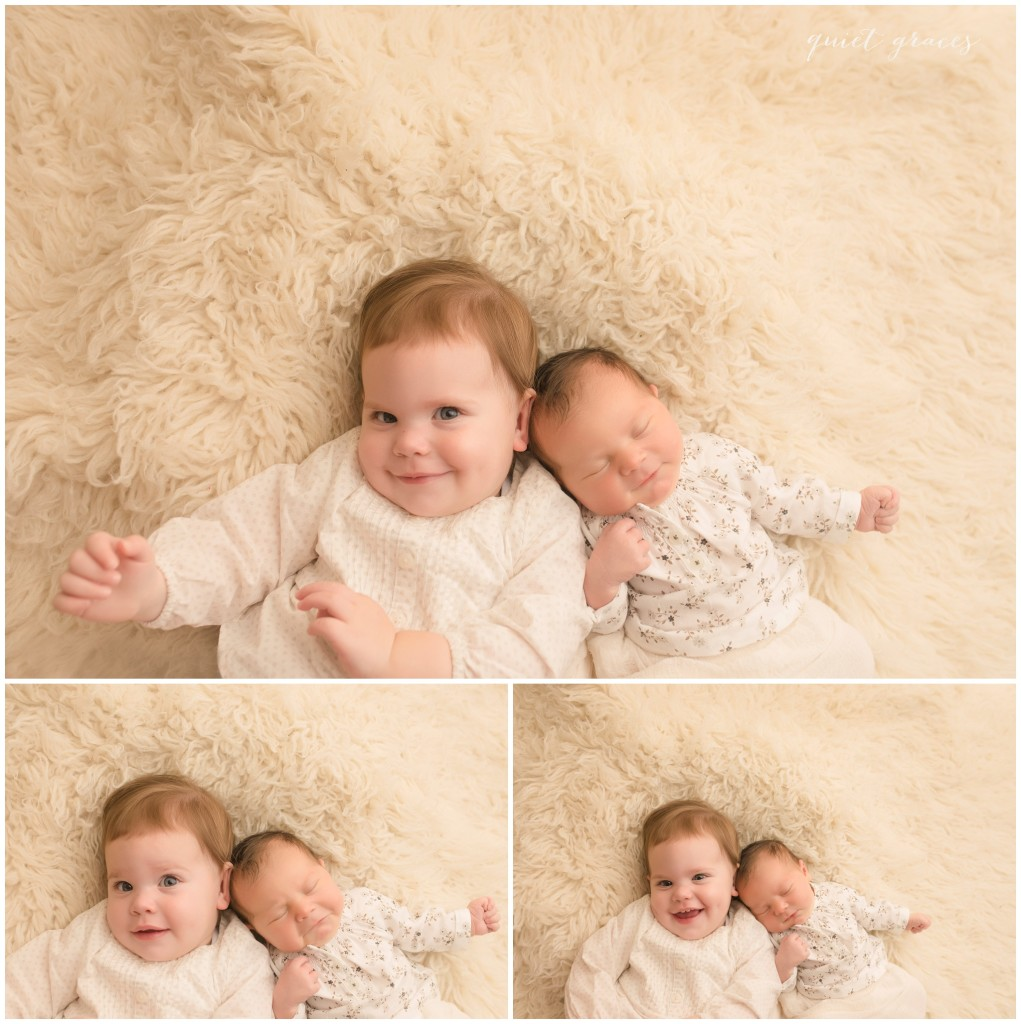 Newborn Baby with Big Sister Pictures Simpsonville SC