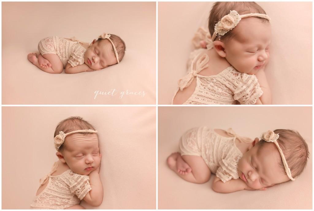 Posed newborn baby photographer Greenville SC