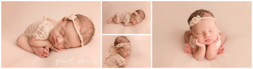 Newborn Baby Girl Pictures in a Studio Greer SC