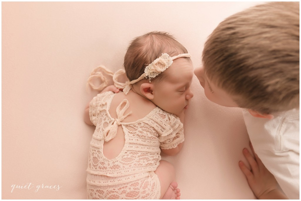 Newborn Baby with Brother Pictures Greer SC