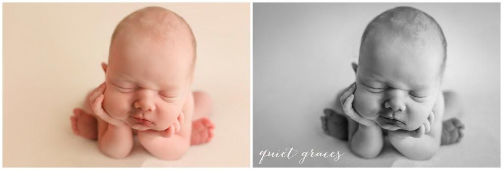 Smiling Newborn Baby Pictures Simpsonville SC