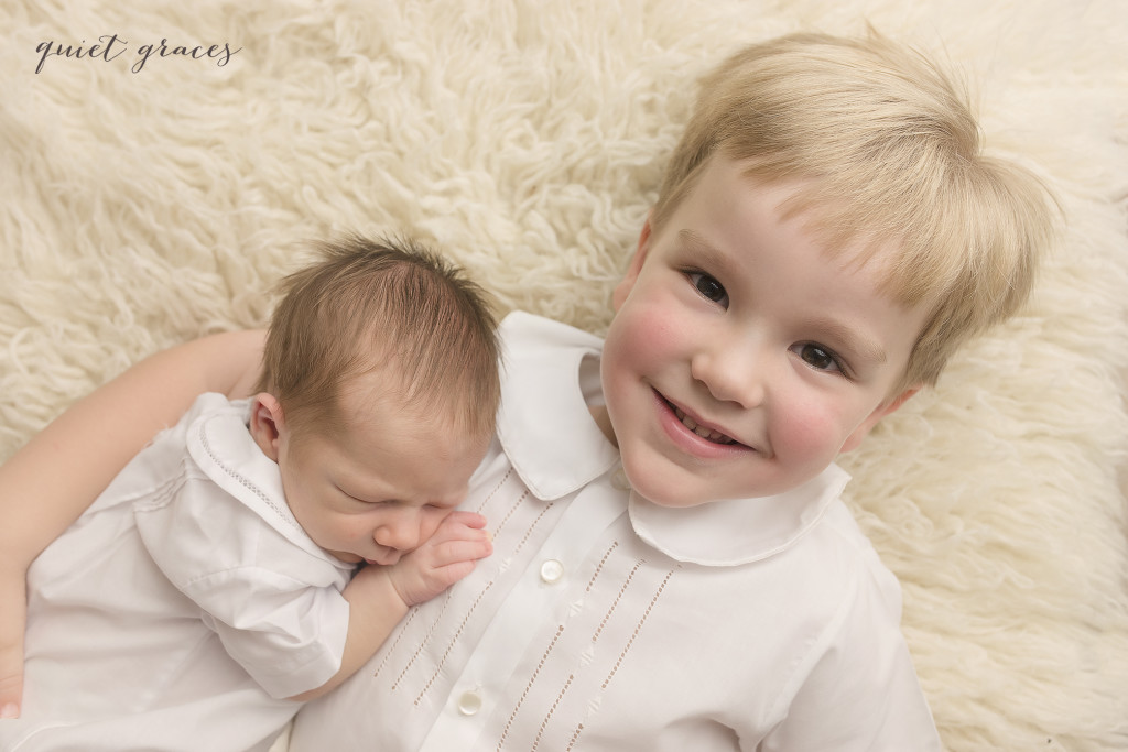 Newborn Baby with big brother Greenville SC