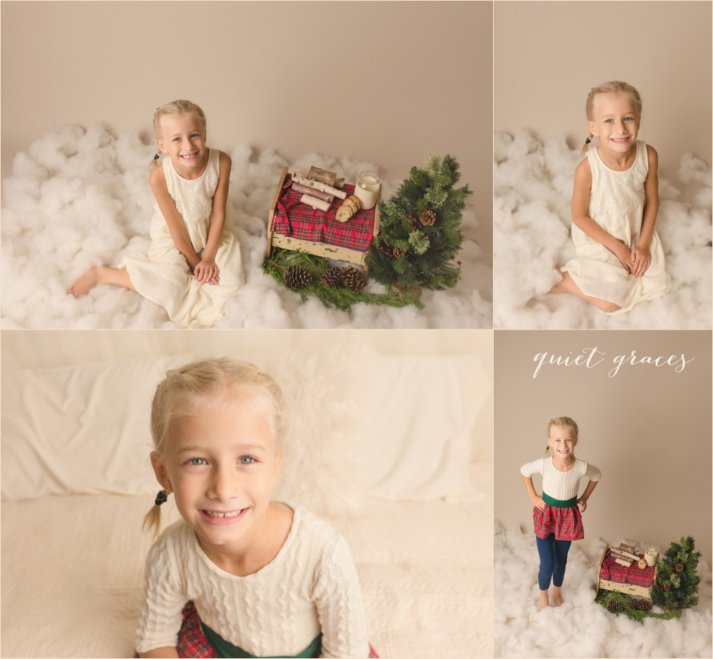 Older Child in Holiday Mini Sessions Greer SC