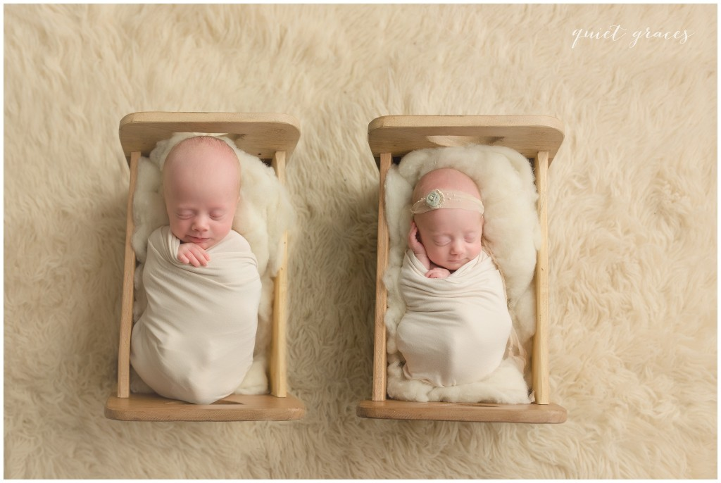 Twin Baby Photo Sleeping in Little Beds Mauldin SC