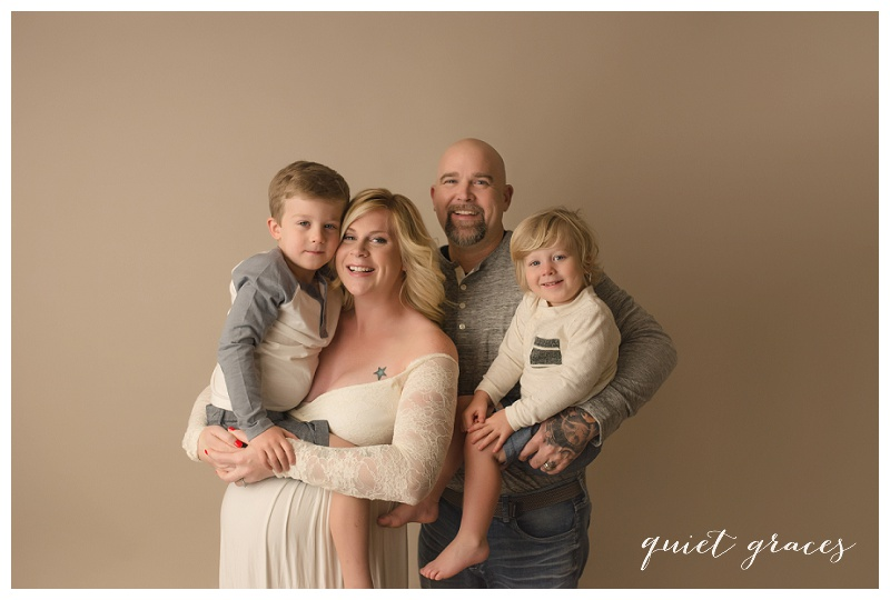 Family Pictures at Maternity Session Greenville SC