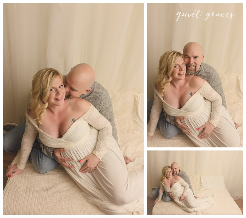 Studio Photographer Maternity with Dad Greenville SC
