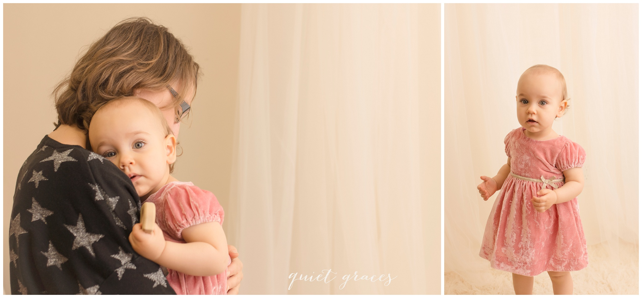 Session for a shy one year old in Simpsonville SC