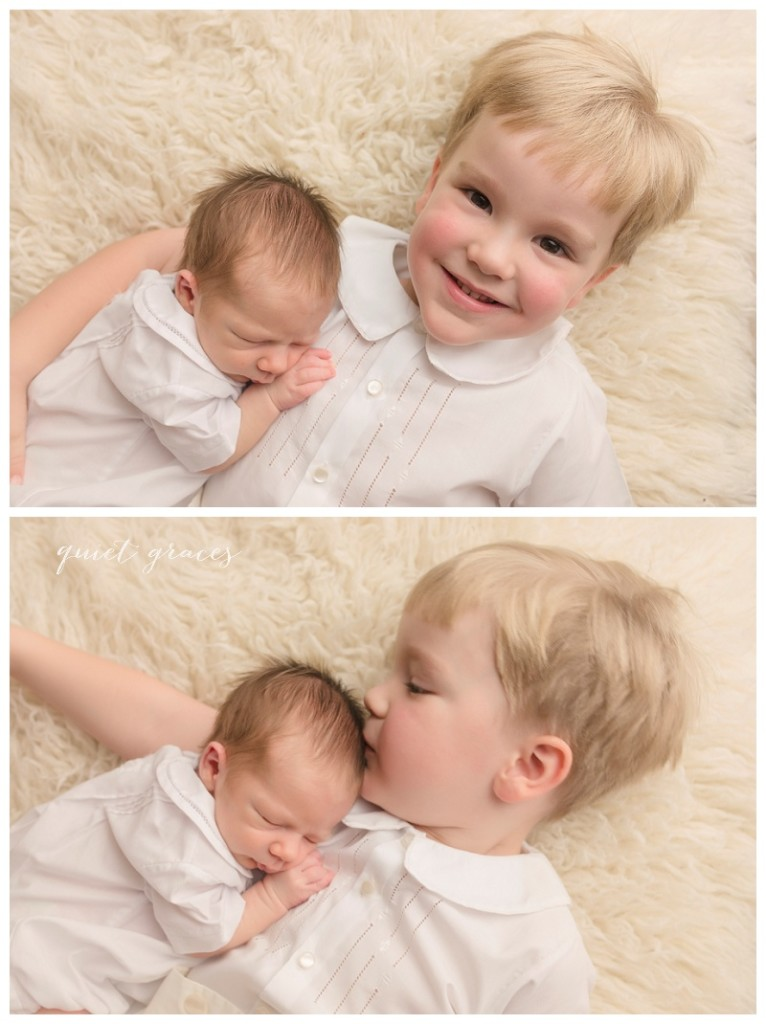 Baby and Big Sibling Newborn Photos Simpsonville SC