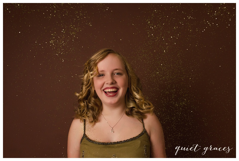 Teen in Glitter Princess Session
