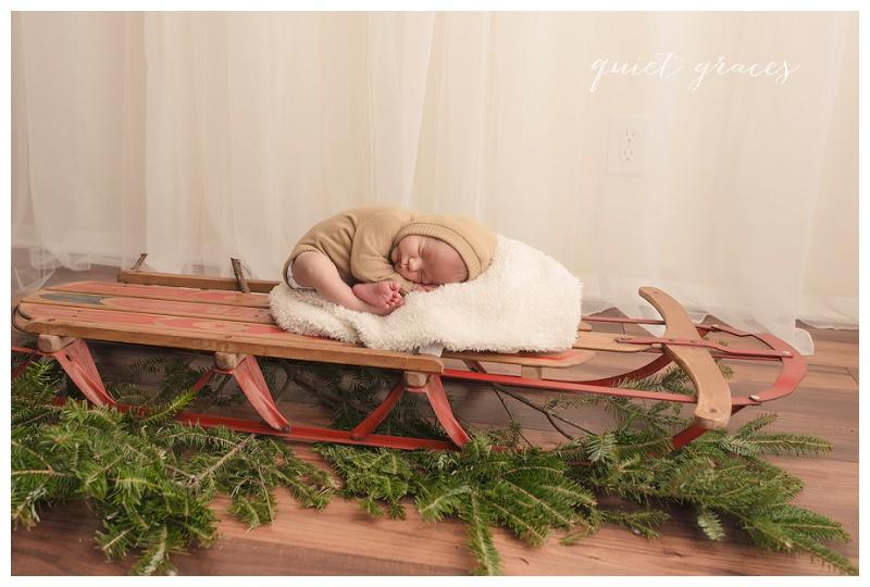 Christmas Newborn Photos Greenville SC