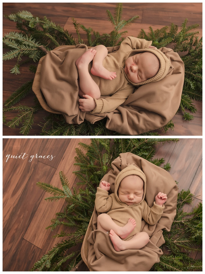 Rustic Woodland Newborn Photos Greenville SC