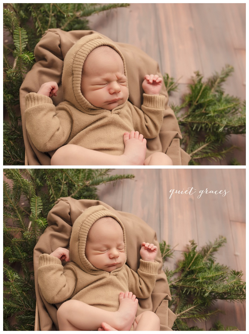 Rustic Woodland Baby Photos Greenville SC