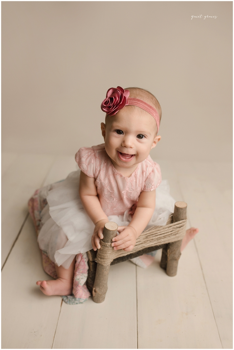 Rustic Sitting Baby Photos Greenville SC